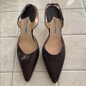 Manolo Blahnik Slingback Heels (2 Inches)
